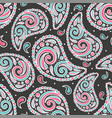 abstract paisley seamless pattern vector image vector image