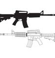 American Assault Gun vector image vector image