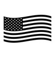 american flag stars and stripes red white vector image