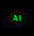 artificial intelligence conceptual banner vector image vector image