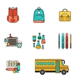 Back School Set vector image vector image
