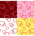 background with hearts for valentine day - set vector image vector image