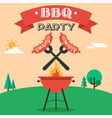 BBQ party invitation vector image