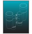 binoculars on a turquoise vector image vector image