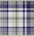 blue gray check textile seamless pattern vector image vector image