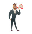 boss businessman or manager man in suit shouting vector image