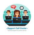 call center operators flat composition