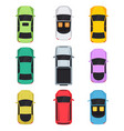 cars top view vector image vector image