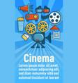 cinema concept banner cartoon style vector image