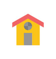city construction house flat color icon icon vector image