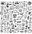 Cookery food - doodles collection vector image vector image