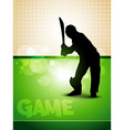 cricket game vector image vector image