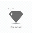 diamond icon on transparent vector image