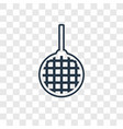 disco ball concept linear icon isolated on vector image