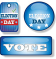 election day signs and badges set vector image vector image