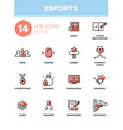 esports - modern simple thin line design icons vector image