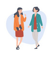 female friends talking spending time together vector image