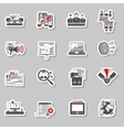Freelance concept stickers collection vector image vector image