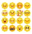 Fun Sun Emojis vector image vector image