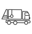 garbage truck icon outline style vector image vector image