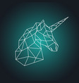 geometric unicorn head side view vector image