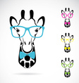 Giraffe glasses vector image