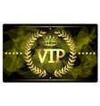 gold vip card design vector image vector image