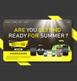 gym promo landing page website template vector image