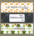halloween party banners pumpkin ghost holiday vector image vector image