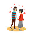 happy cute couple vector image