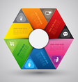 hexagon group template vector image vector image