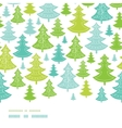 Holiday Christmas trees horizontal seamless vector image vector image
