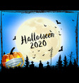 holiday halloween background with pumpkin vector image vector image