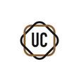 initial letter uc elegance logo design template vector image vector image