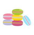 macarons cake vector image