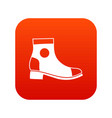 men boot icon digital red vector image vector image