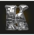 metal figure k vector image vector image