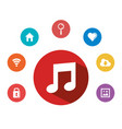 music note internet app multimedia element vector image vector image