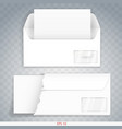 paper or cardboard envelope vector image vector image