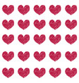 pattern of vinous hearts vector image vector image