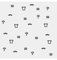 Pattern with summer symbols monochrome minimal vector image