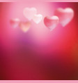 pink blurred heart vector image