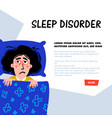psychology sleep disorder woman character with vector image vector image