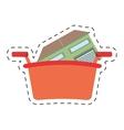 real estate house shop basket cut line vector image
