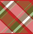 red abstract asymmetrical check plaid seamless vector image vector image