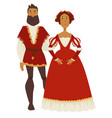 renaissance style couple man and woman ball gown vector image vector image