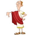 roman emperor with thumb down vector image