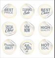 round white paper sale sticker collection 3 vector image