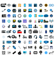 set of social media icons vector image vector image