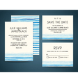 set of wedding invitation card with watercolor vector image vector image
